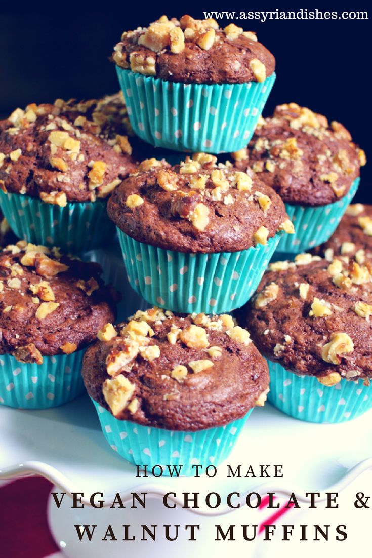 Learn How to make Vegan Chocolate & Walnut Muffins with Assyrian Dishes!