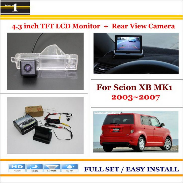 "For Scion XB MK1 2003~2007 - Auto Back UP Reverse Camera + 4.3"" Color LCD Monitor = 2 in 1 Rearview Parking System"