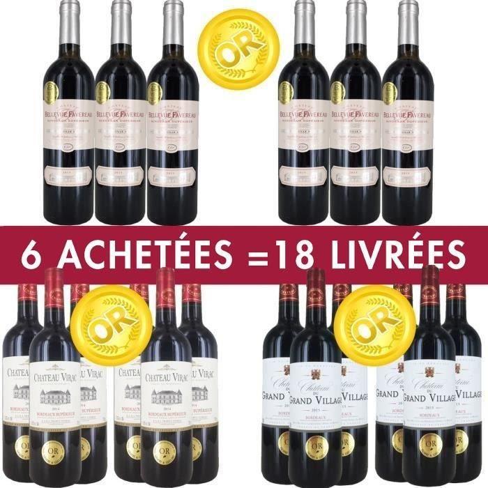 68.40 € J'❤ ce #BonPlan #Vin - Pack 6 = 18 #vins de #Bordeaux Médaillés ➡ https://ad.zanox.com/ppc/?28290640C84663587&ulp=[[http://www.cdiscount.com/vin-champagne/vin-rouge/pack-6-18-vins-de-bordeaux-medailles/f-129330101-bunmedaille24.html?refer=zanoxpb&cid=affil&cm_mmc=zanoxpb-_-userid]]