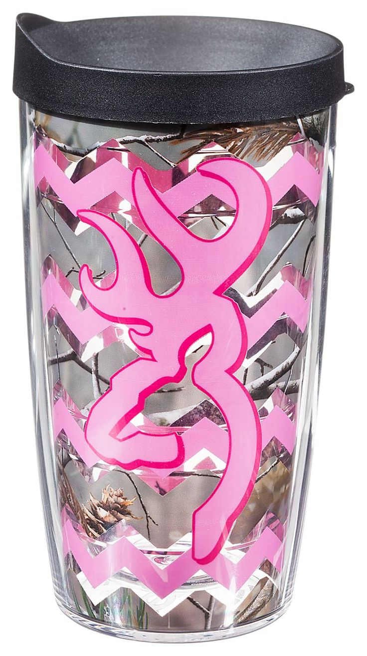 Tervis Tumbler Browning Buckmark Chevron Insulated Tumbler with Lid | Bass Pro Shops #Valentinesdaygifts #giftsforher #pinkcamo