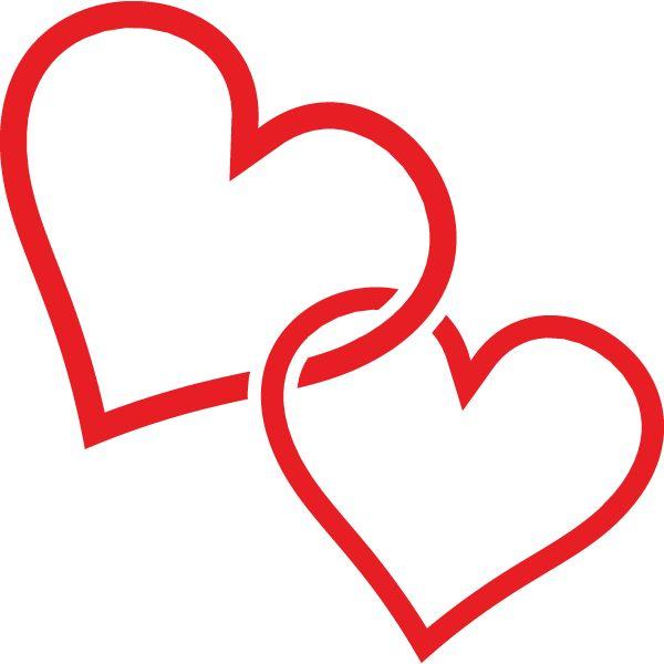 clip art hearts | Clip Art Two Hearts | Clipart Panda ...