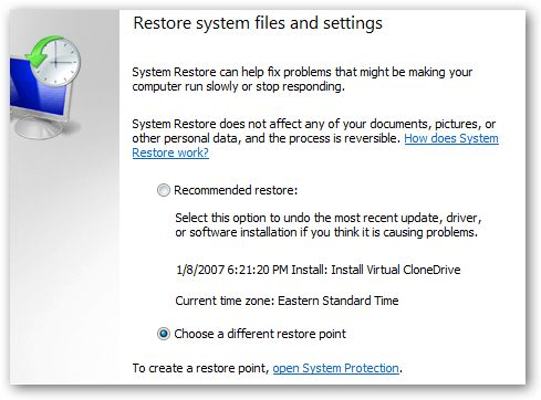 Limited Access to WiFi Solution for Windows 7: Using Windows 7 or Vista System Restore