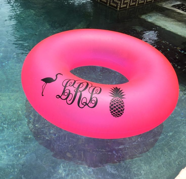 Monogrammed Pool Float