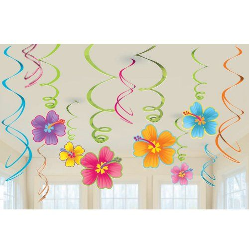 Luau Swirl Hanging Decorations Value Pack (Each), 2015 Amazon Top Rated Invitations & Cards #Toy