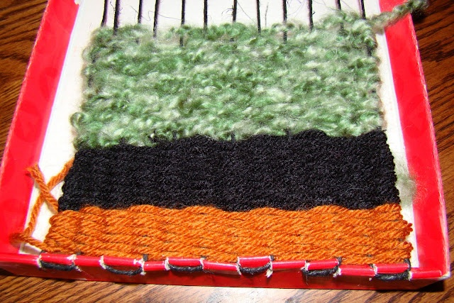 Shoe Box Lid Weaving