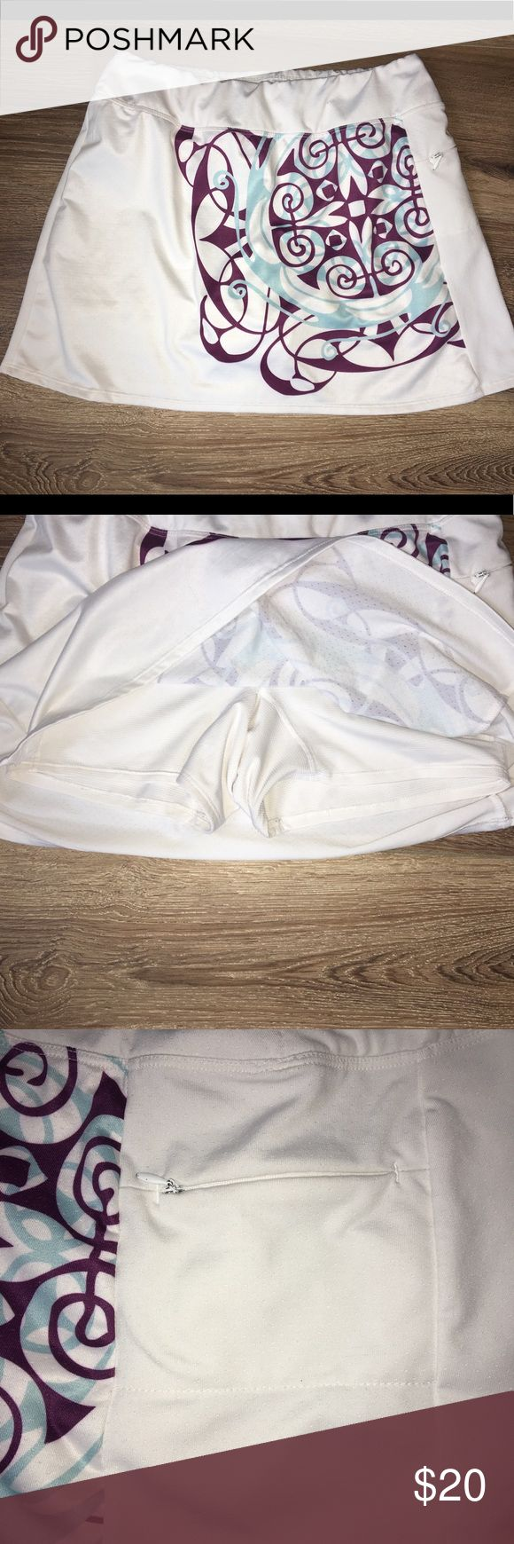 Athleta White Tennis Skort Size Medium EUC Athleta Skirts