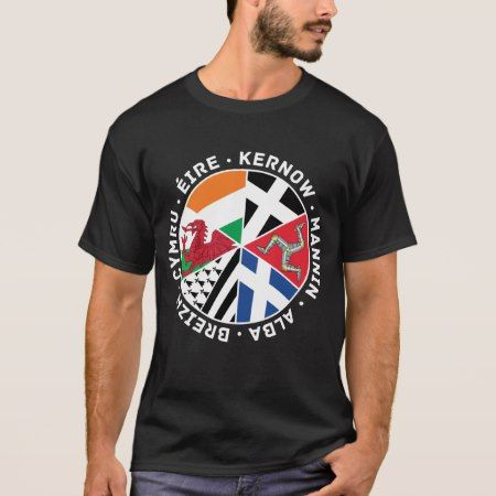 Celtic Nations Countries Flags Men's Tee Shirt - click to get yours right now!