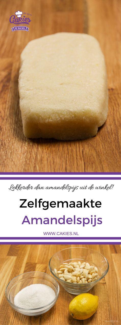 Deze zelfgemaakte amandelspijs is super makkelijk om te maken en echt veel lekkerder dan uit de winkel! Amandelspijs recept, leer zelf amandelspijs maken.