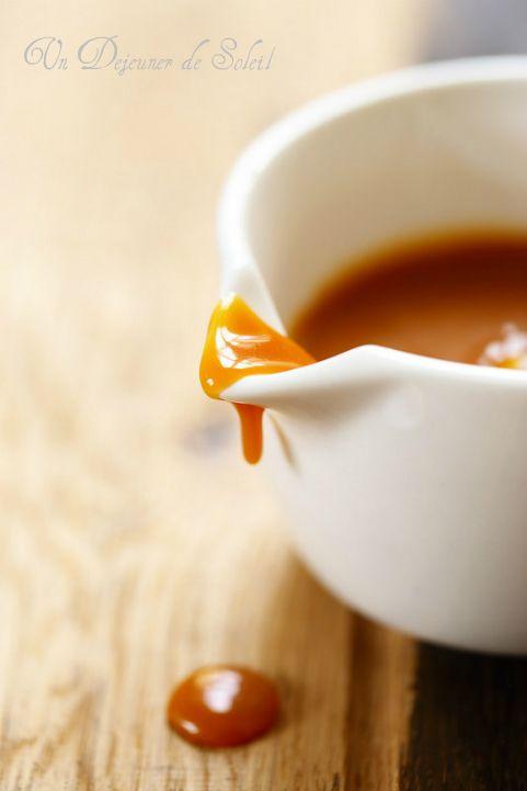 Sauce caramel beurre salé et lien vers le millefeuille cacao caramel ;)