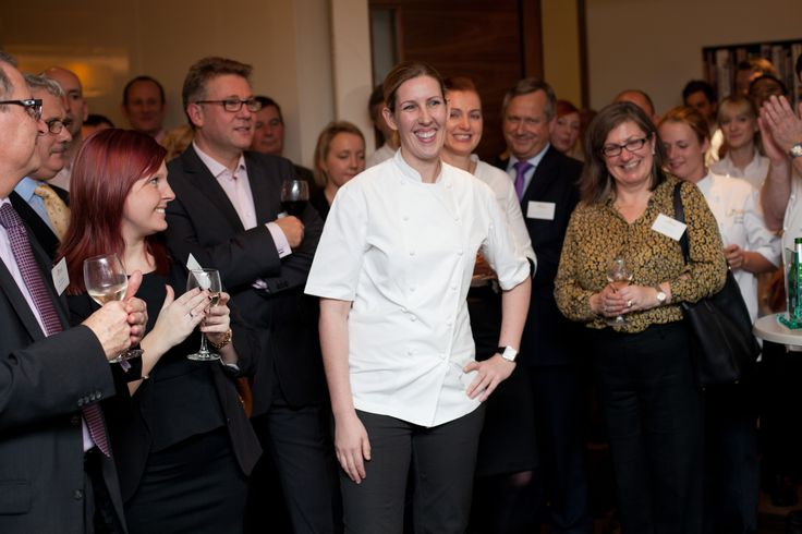 Clare Smyth, MBE, takes to the stage...