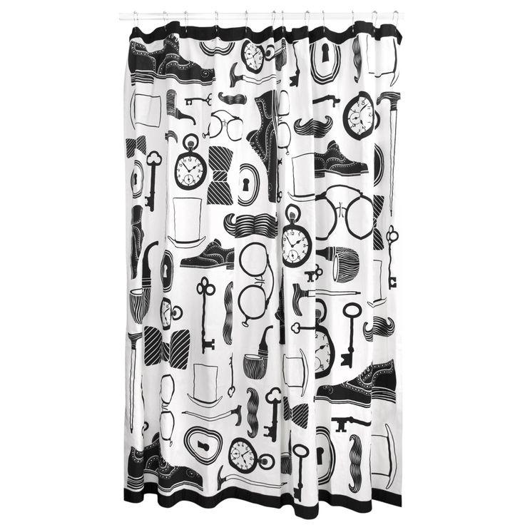 Modern Bath Linens | Mantique Shower Curtain | Jonathan Adler