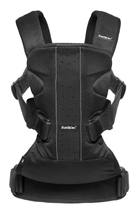BABYBJORN Baby Carrier One Air.Baby Carrier One is our very latest baby carrier. It is ideal for those wanting an ergonomic baby carrier with incomparable comfort. And a must for those who want to vary the way of carrying for long periods. Baby Carrier One is equipped with a sturdy waist belt and padded, form-fitting shoulder straps to make it comfortable for carrying a growing child from newborn up to the age of three years.