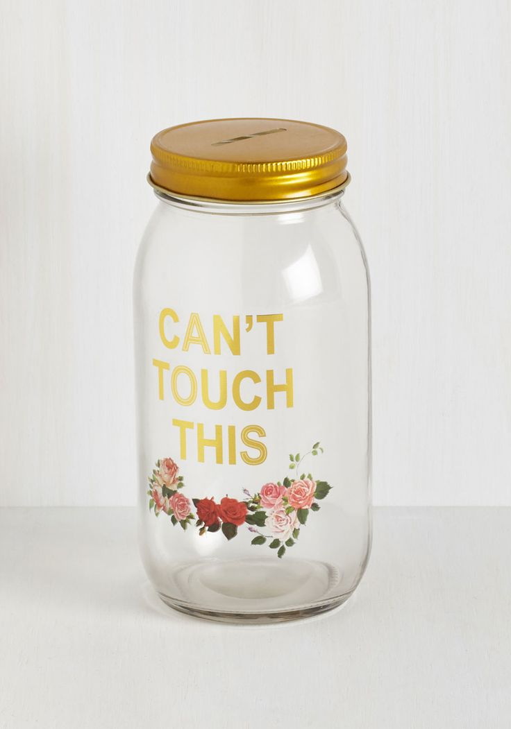 De-light Savings Bank. Your rainy day fund looks super fab inside of this glass savings jar! #multi #modcloth