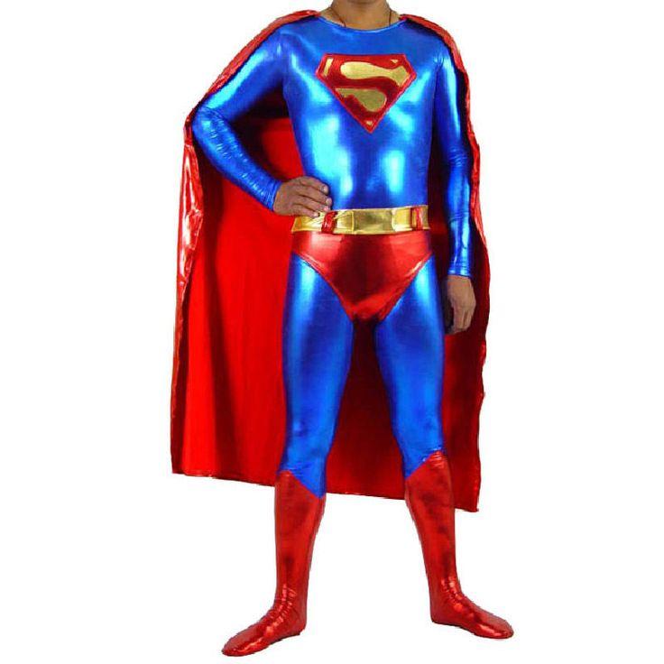 Costume Man of Steel Adult Superman Halloween Superhero Fancy Dress Cosplay | eBay