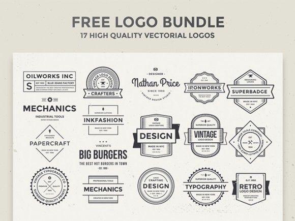 17 Free vintage logos