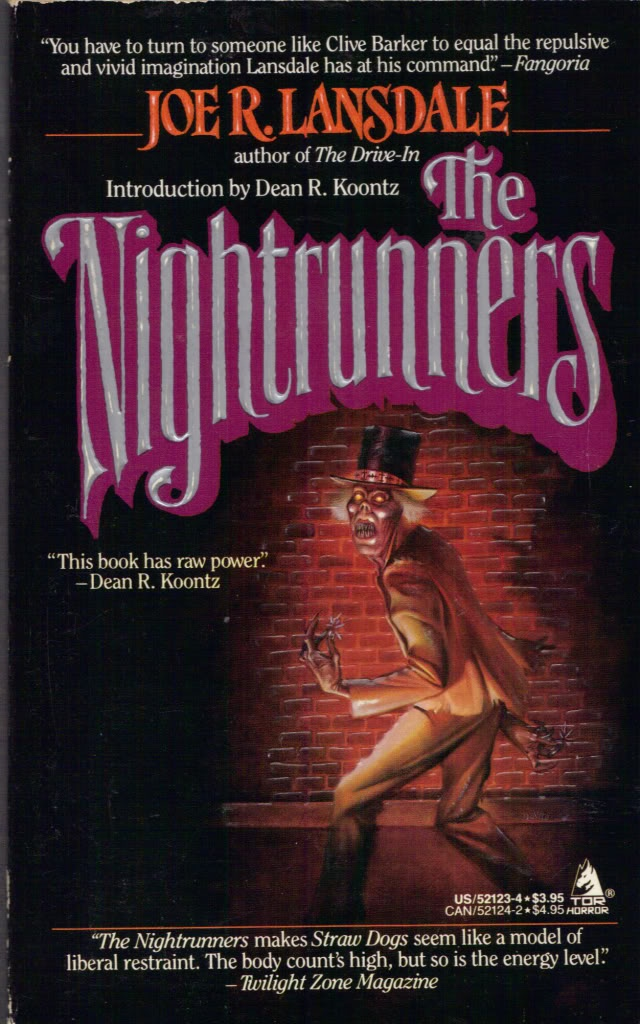 The Nightrunners.: Worth Reading, Book Worth, Nightrunn, Bones, Joe R Lansdal, Joe Lansdal, Horror Novels, Book Jackets, Horror Book