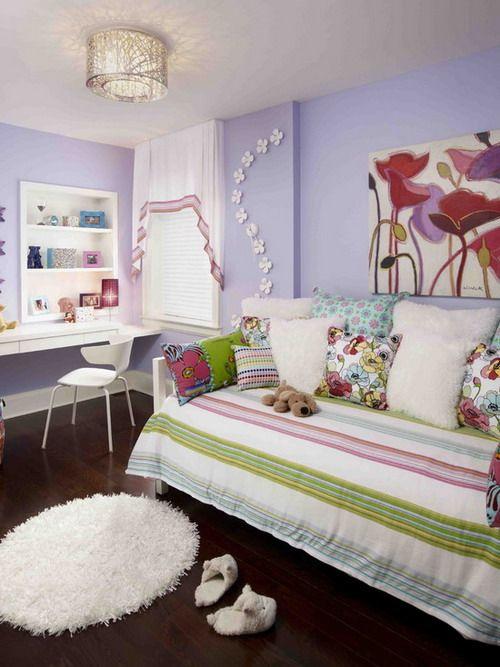 Small White Paper Wallflowers in Stylish Teen Bedroom Great Ways to Create Wallflower Teen Bedroom