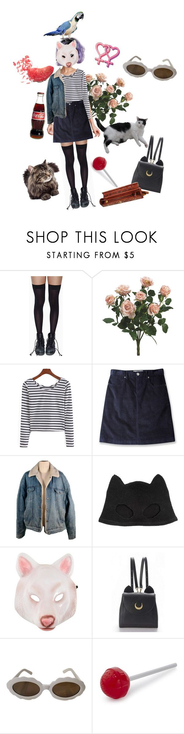 """""""heard your bf was away this weekend"""" by plllllrf ❤ liked on Polyvore featuring Leg Avenue, Mountain Khakis, Silver Spoon Attire, WithChic, Moschino and Fred"""