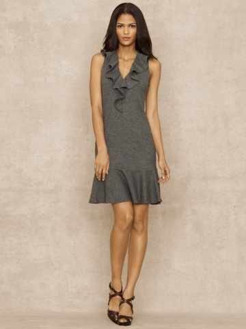 Norma Ruffle Dress - Blue Label Dresses - Ralph Lauren UK