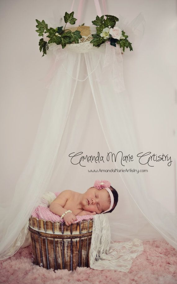 PHOTOgraphy PROP Bed Canopy Crown Burlap Lace By SoZoeyBoutique, $38.97