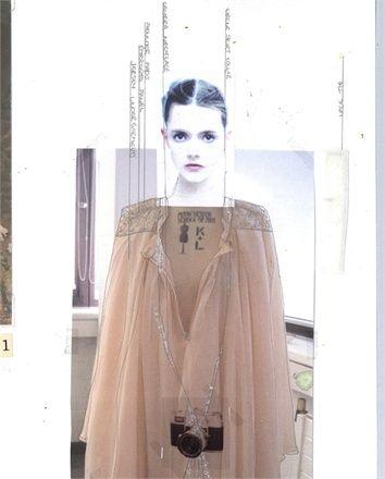 Fashion Sketchbook page - creative layouts; fashion design portfolio // Rebecca Thomson
