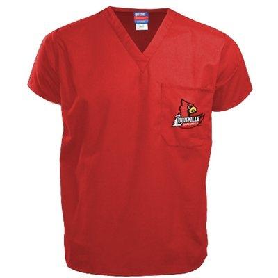 Louisville Cardinals Red Scrub Top