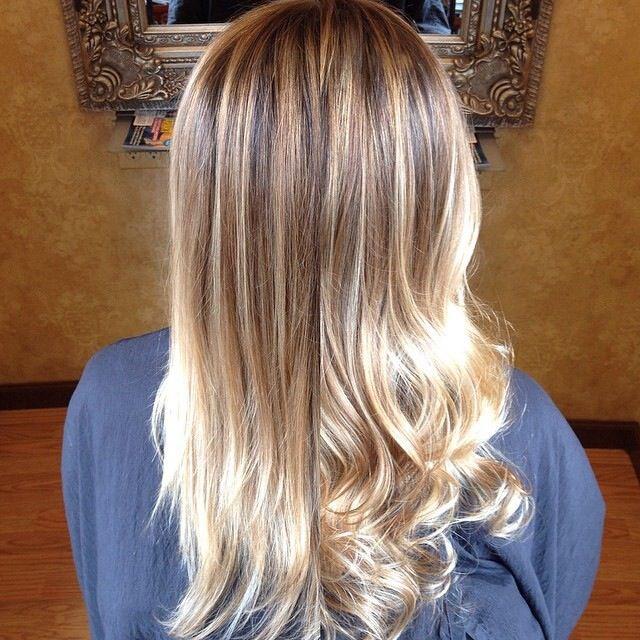 Blonde Balayage Highlights Straight Hair 50306 Timehd