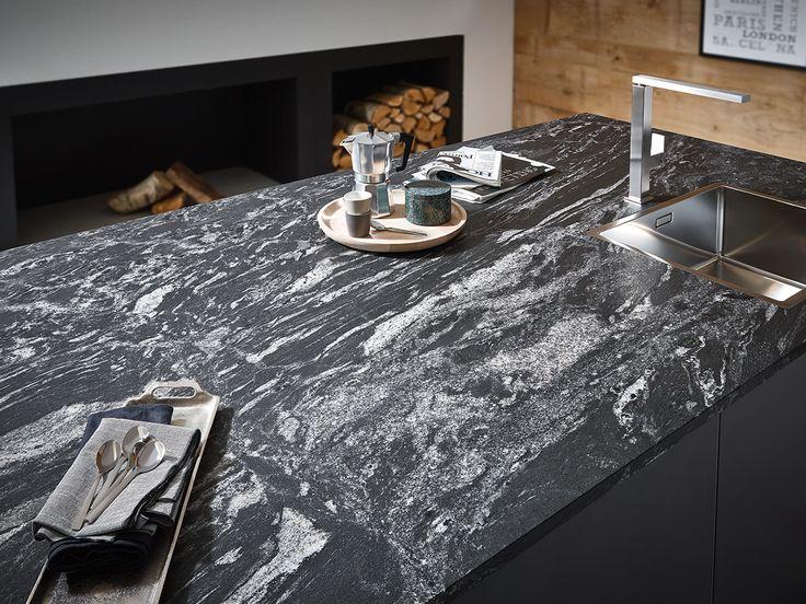 048 #Dark veil bringt als #Arbeitsplatte oder #Rückwand ein über Jahrmillionen gewachsenes Stück #Luxus in Ihre #Küche