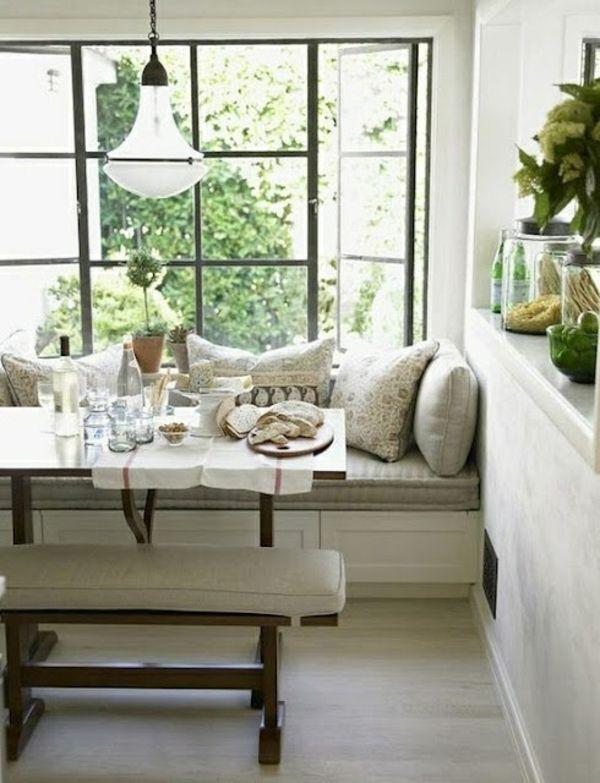 Table,cushion,colors......Essecke gestalten - 20 wunderschöne, gemütliche Ideen für Ihre Küche