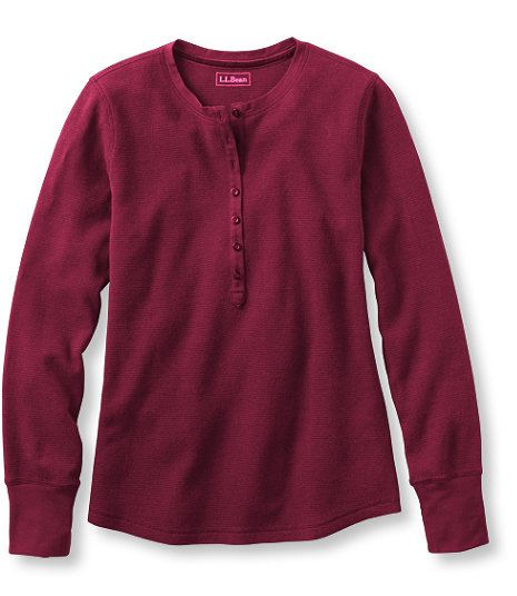 Waffle-Knit Henley | LL Bean | Good for casual