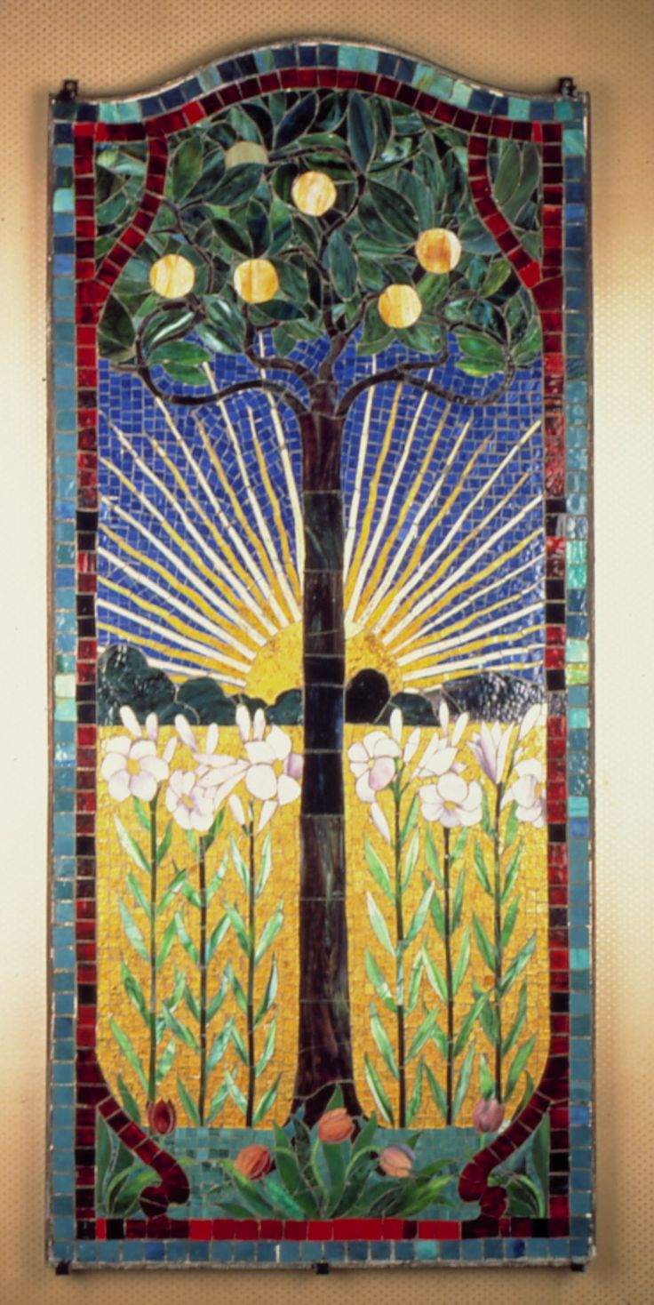 stained glass ~ Arts & Crafts Movement: Mosaics Art, Art Crafts, Crafts Movement, Mosaics Trees, Art And Crafts, Art & Crafts, Glasses Art, Crafts Style, Stained Glasses