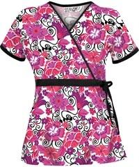 Uniform Advantage Happy Hibiscus Mock Wrap Top