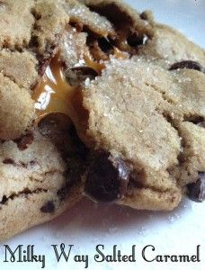 Milky Way Salted Caramel Chocolate Chip Cookies. Talk about the Cookie Monster.. Lol That is how I felt after making this scrumptious cookies!! Just plain incredible!!!