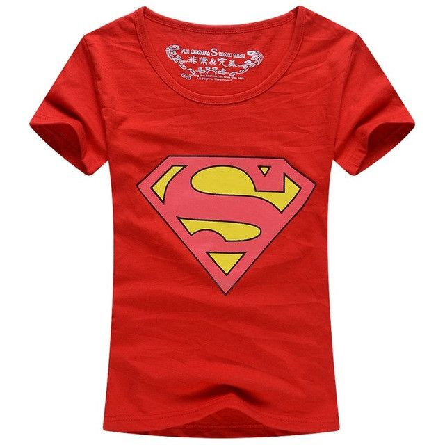 Superman T Shirt Lovers clothes Women's Men's casual O neck short sleeve t-shirts for couples superman short-sleeve T-shirt