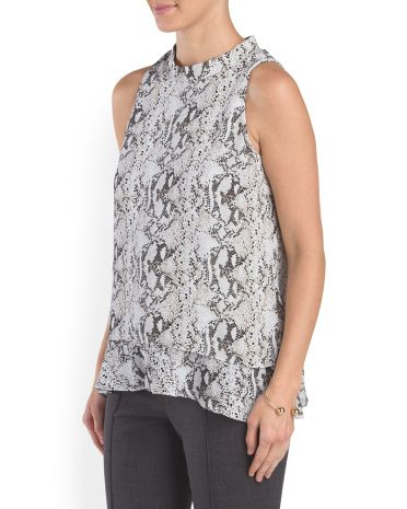 image of Double Layer Printed Top