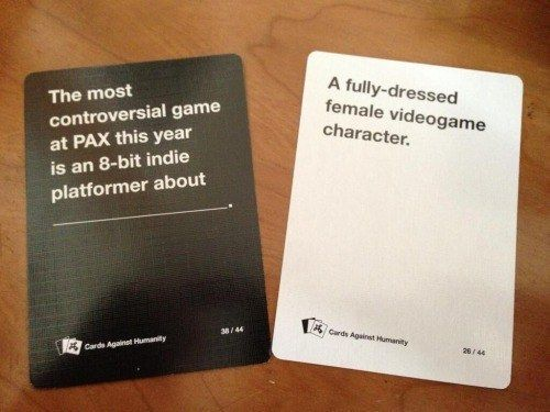 The realest game of Cards Against Humanity that's ever been played.   23 Best Tumblr Jokes Of 2014