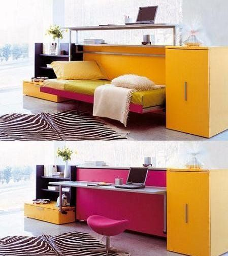 small room layouts clever space saving ideas for small room layouts with white orange yellow purple black white zebra carpet chair bed pillow table