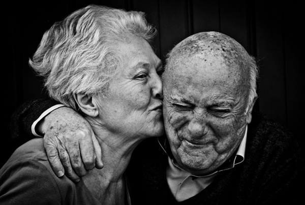 """Photo of the Day: May 22, 2012. """"This very old couple has been in love for a long time. I met them in Italy. They don't speak English, but we communicated though being silly.""""  Michael Schmidt (Staten Island, New York )  Photographed September 2010, Belluno, Italy"""