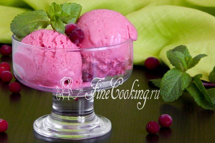 Клюквенное мороженое - рецепт с фото