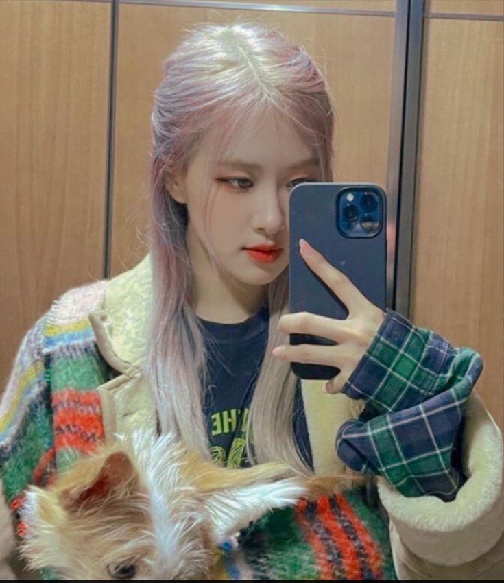 cr. ultrosechaeng di 2021 | Gaya rambut putri, Gadis korea