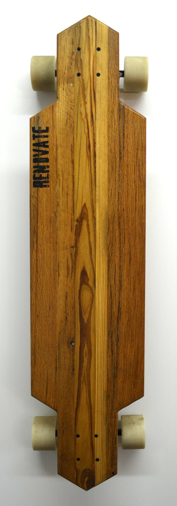 Reclaimed Solid Wood Longboard Flight40 by RenovateLongboards, $125.00