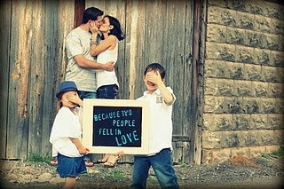One of my favorite poses I've done.  Family pics.  kids.  Kiss.