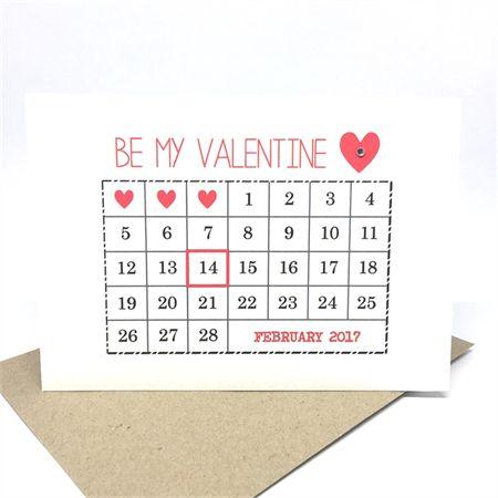 Valentine's Day Card - February Calendar 2017 - HVD005