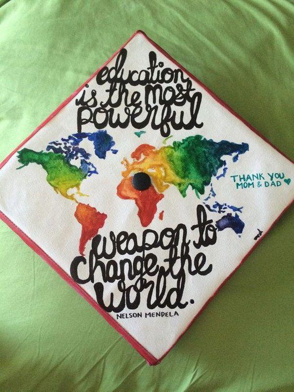 50 Amazing Graduation Cap Decoration Ideas 28