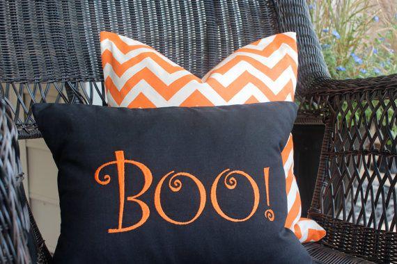 Halloween Decor Boo pillow decorative pillow by LittleYellowNest