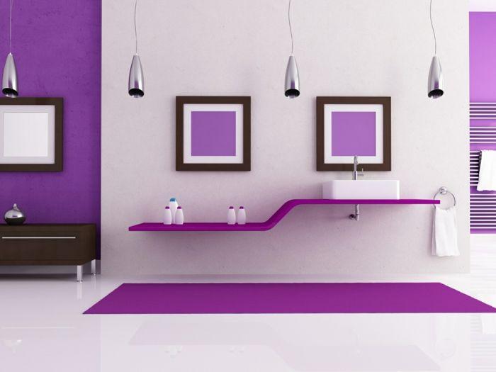 Die besten 25+ Lila badezimmer Ideen auf Pinterest Heimwerken - wohnzimmer lila weis