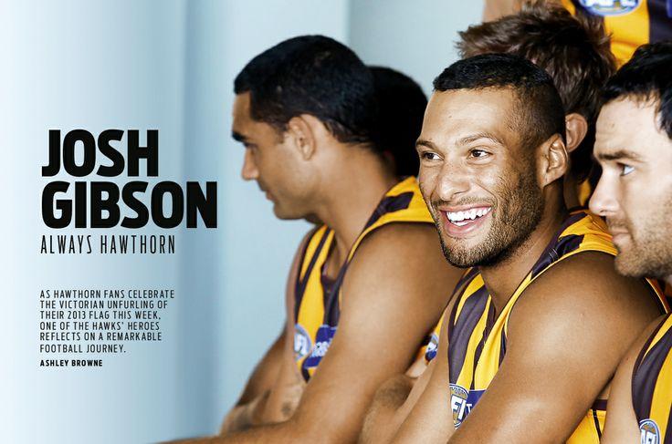 2014 AFL Record Round 3 | Hawthorn FC's Josh Gibson | Publication Spread Design