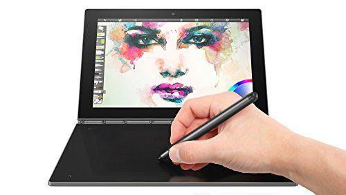 Lenovo Yoga Book tablette tactile hybride 10″ FHD Noir Carbone(Intel Atom, 4 Go de RAM, Disque dur 64 Go, Windows 10 pro): Ecran tactile…