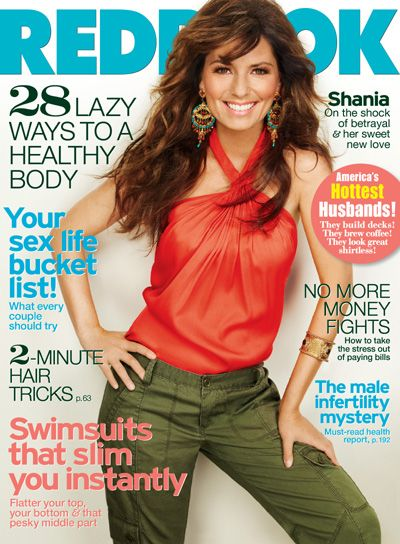 Shania Twain is Redbook covergirl