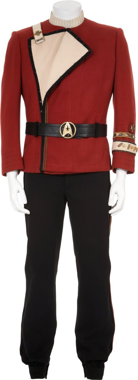 Admiral James T Kirk's uniform, worn in The Wrath of Khan. Sold for $44,812.50 in 2010!!!